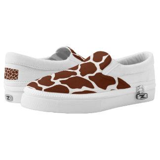 Giraffe pattern slip on shoes
