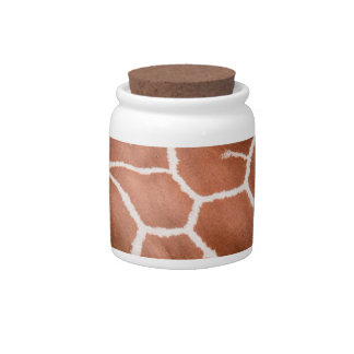 Giraffe pattern candy jar
