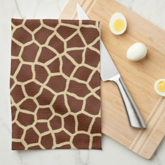 Giraffe Pattern Tea Towel