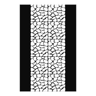 Giraffe Pattern. White and Black. 14 Cm X 21.5 Cm Flyer