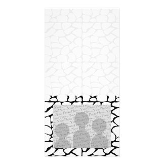 Giraffe Pattern. White and Black. Card