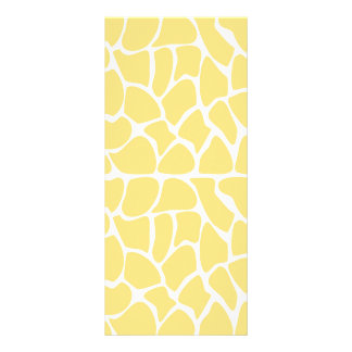 Giraffe Pattern. Yellow. Rack Card
