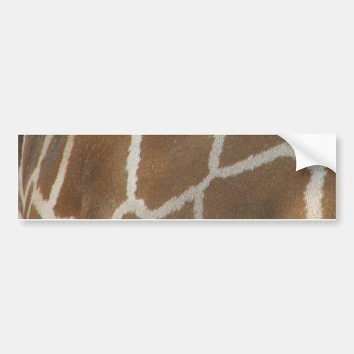 Giraffe Patterned Bumper Sticker