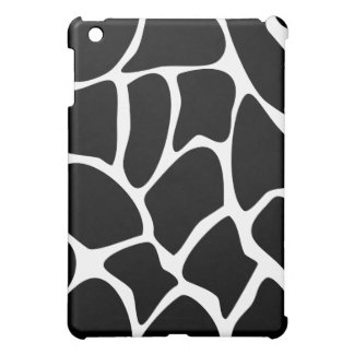 Giraffe Pern. Animal Print Design, Black iPad Mini Cover