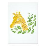 Giraffe Personalised Invitation