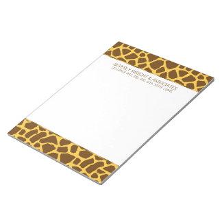 Giraffe Personalized Notepad
