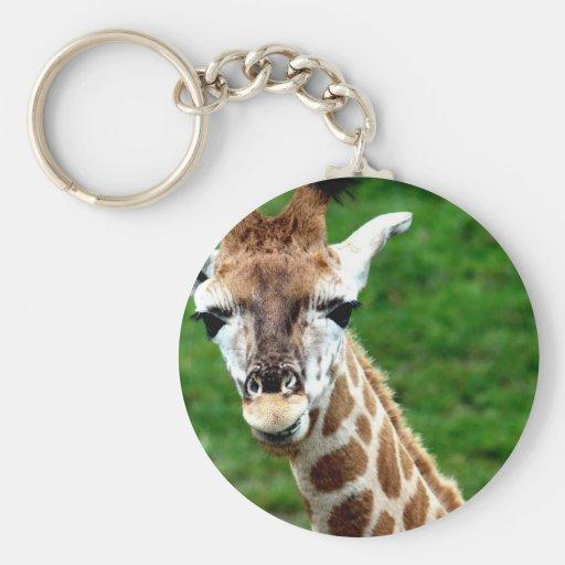 Giraffe Photo Keychain