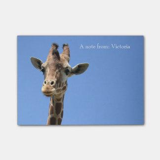 Giraffe Photo Personalized Post-It Notes