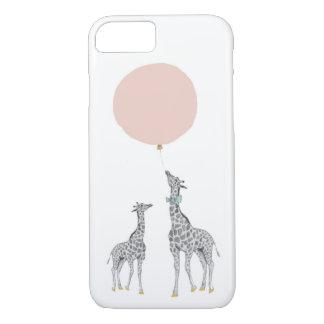 Giraffe & Pink Balloon iPhone 7 Case