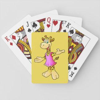 Giraffe playing card