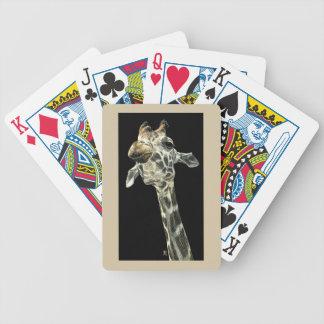 Giraffe Playing Cards - Chin Up
