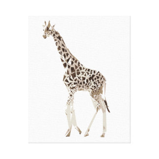 Giraffe polygon art illustration canvas print
