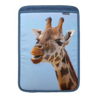 "Giraffe Portrait 13"" MacBook sleeve"
