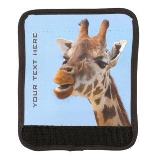 Giraffe Portrait custom luggage handle wrap