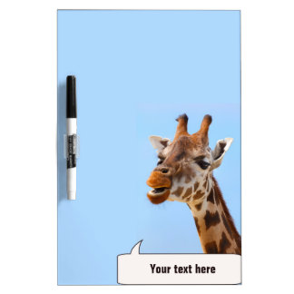 Giraffe Portrait custom message board