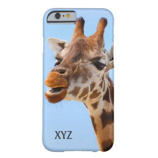 Giraffe Portrait custom monogram cases