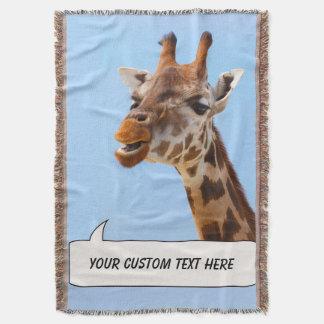 Giraffe Portrait custom throw blanket