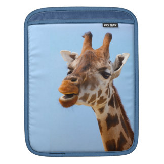 Giraffe Portrait iPad sleeve
