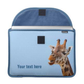 Giraffe Portrait MacBook sleeves
