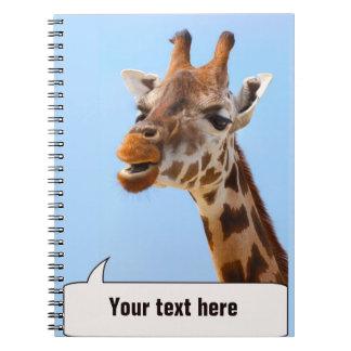 Giraffe Portrait notebook