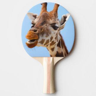 Giraffe Portrait ping pong paddle