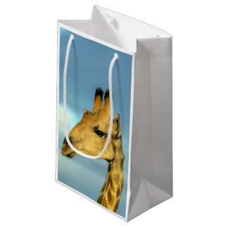 Giraffe portrait small gift bag