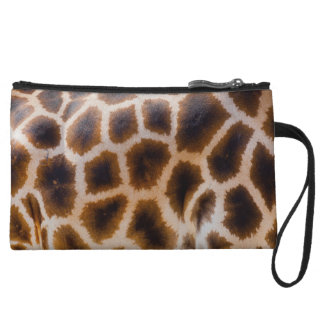 Giraffe Print Abstract Fashion Mini Clutch Wristlet Clutches