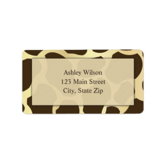 Giraffe Print Address Labels