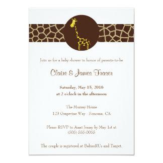 Giraffe Print Baby Shower Card