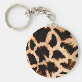 giraffe print basic round button key ring
