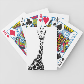 Giraffe Print Bicycle Playing Cards