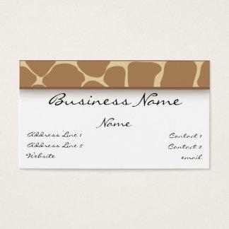 Giraffe Print Business Card