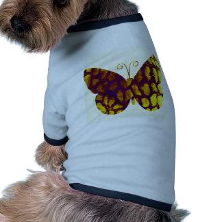 Giraffe Print Butterfly Golden Yellow Pet Shirt