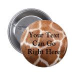 Giraffe Print Button