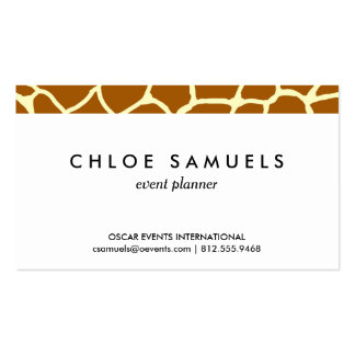 Giraffe Print Classic Brown Yellow Animal Pattern Business Cards