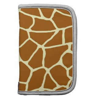 Giraffe Print Classic Brown Yellow Animal Pattern Planner