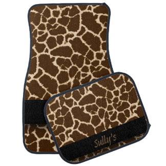 Giraffe Print Design Personalized Car Mat