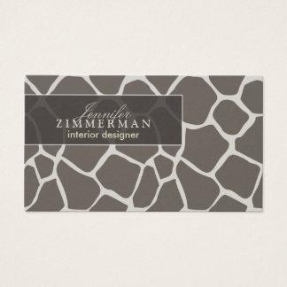 Giraffe Print Designer Business Card :: Taupe