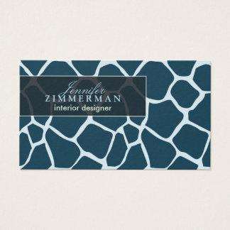 Giraffe Print Designer Business Card :: Teal