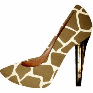 Giraffe Print Fashion Shoe 3D Acrylic Ornament Photo Sculpture Decoration