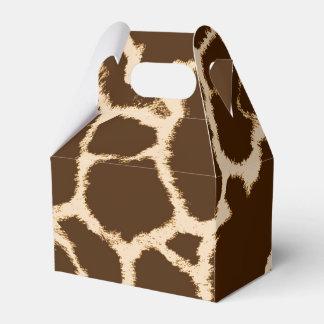 Giraffe Print Favour Boxes