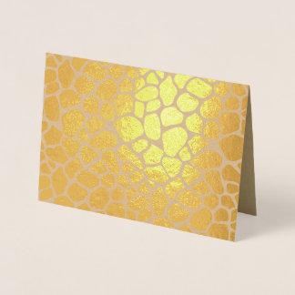 Giraffe Print Foil Card