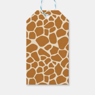 Giraffe Print Gift Tag