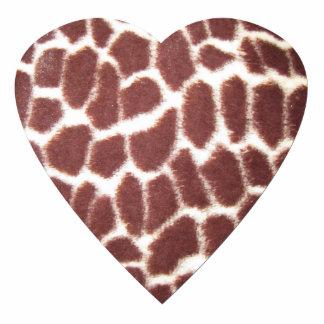 GIraffe Print Heart Photo Sculpture Magnet