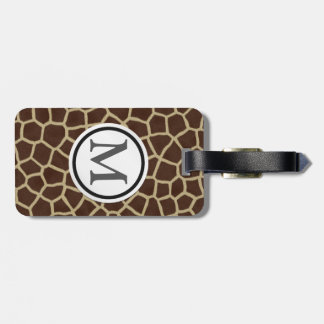 Giraffe Print Luggage Tag