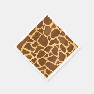 Giraffe Print Napkins Disposable Napkins