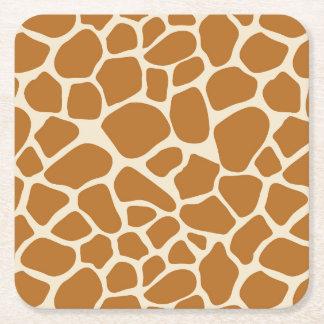 Giraffe Print Paper Coasters