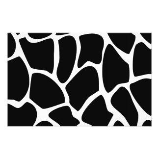 Giraffe Print Pattern. Animal Print Design, Black 14 Cm X 21.5 Cm Flyer