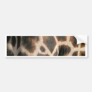Giraffe Print Pattern Bumper Sticker Car Bumper Sticker