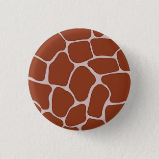 Giraffe Print Pattern Button